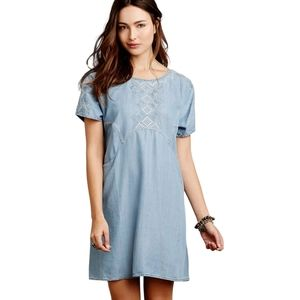 Anthropologie Holding Horses Chambray Tunic - US L